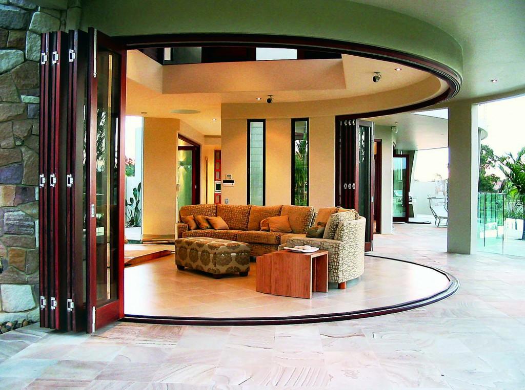 Exterior Wood Bi-Folding Doors: Euro-Wall