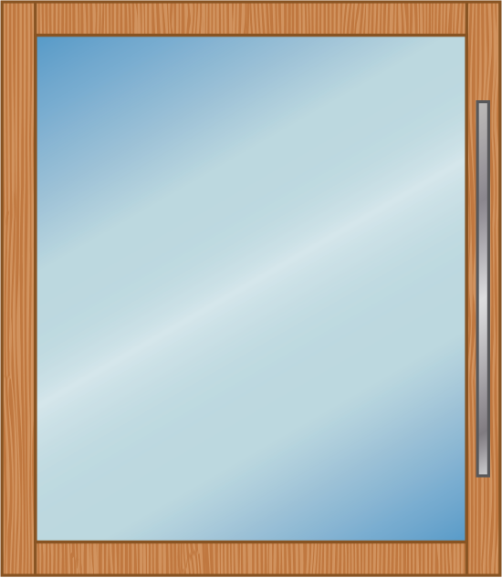 Euro-Wall Wood Pivot Door