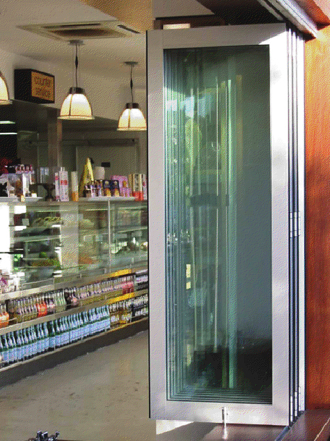 Storefront Folding Doors by Euro-Wall - Storefront Folding Doors