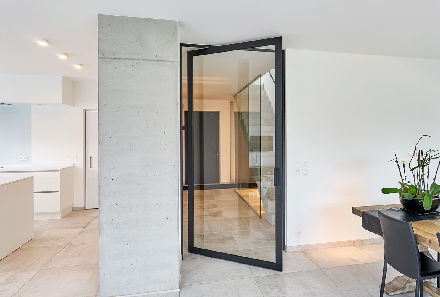 Impact Rated Pivot Door Euro Wall Systems